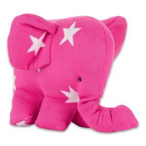 Elephant Star fuchsia/white