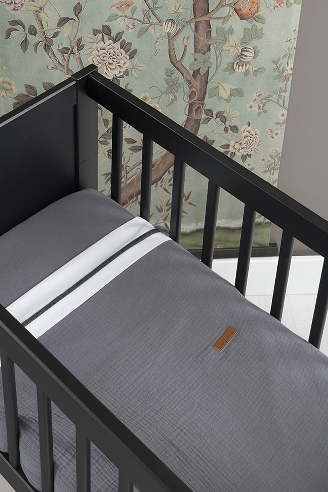 fitted sheet breeze anthracite 40x80