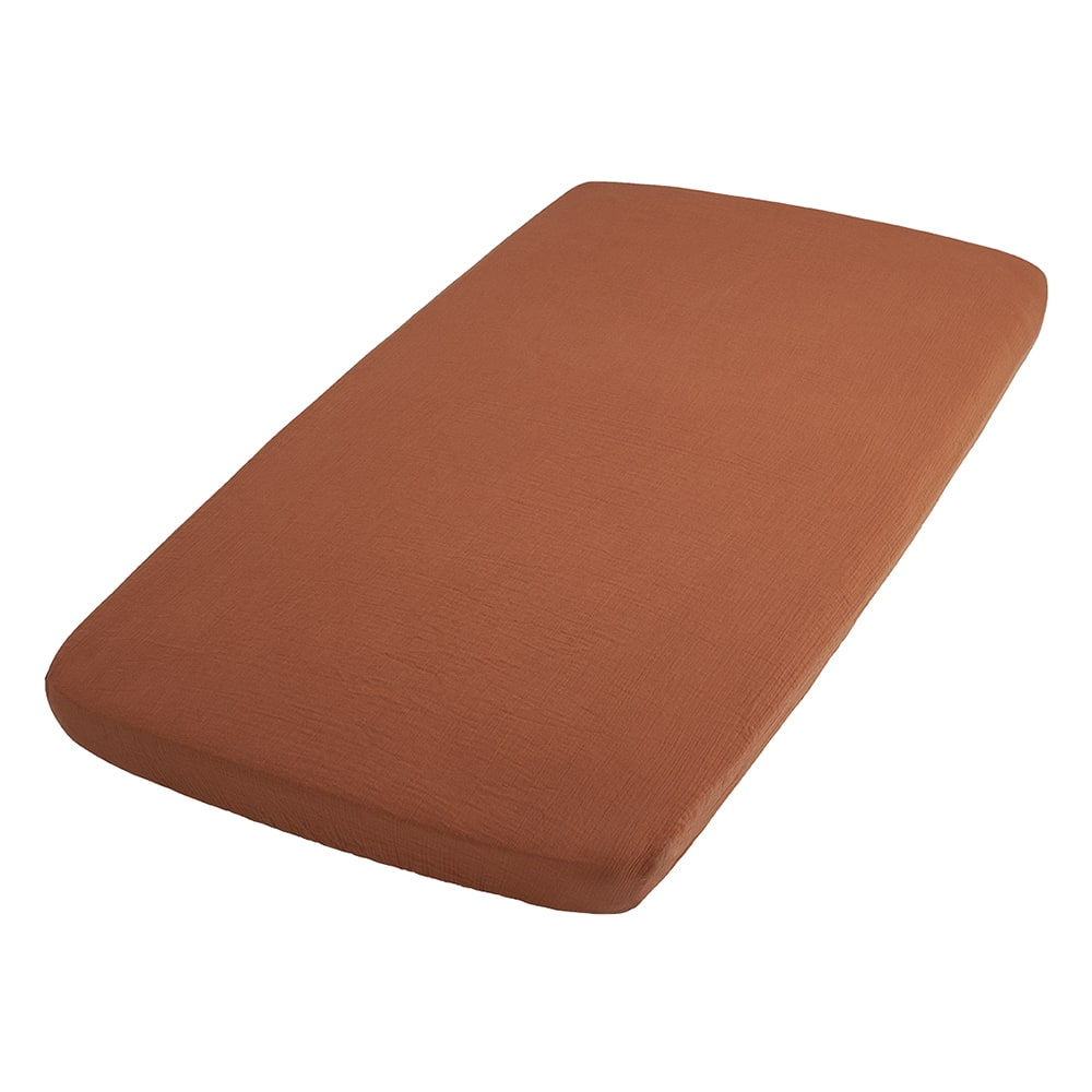 fitted sheet breeze rust 60x120