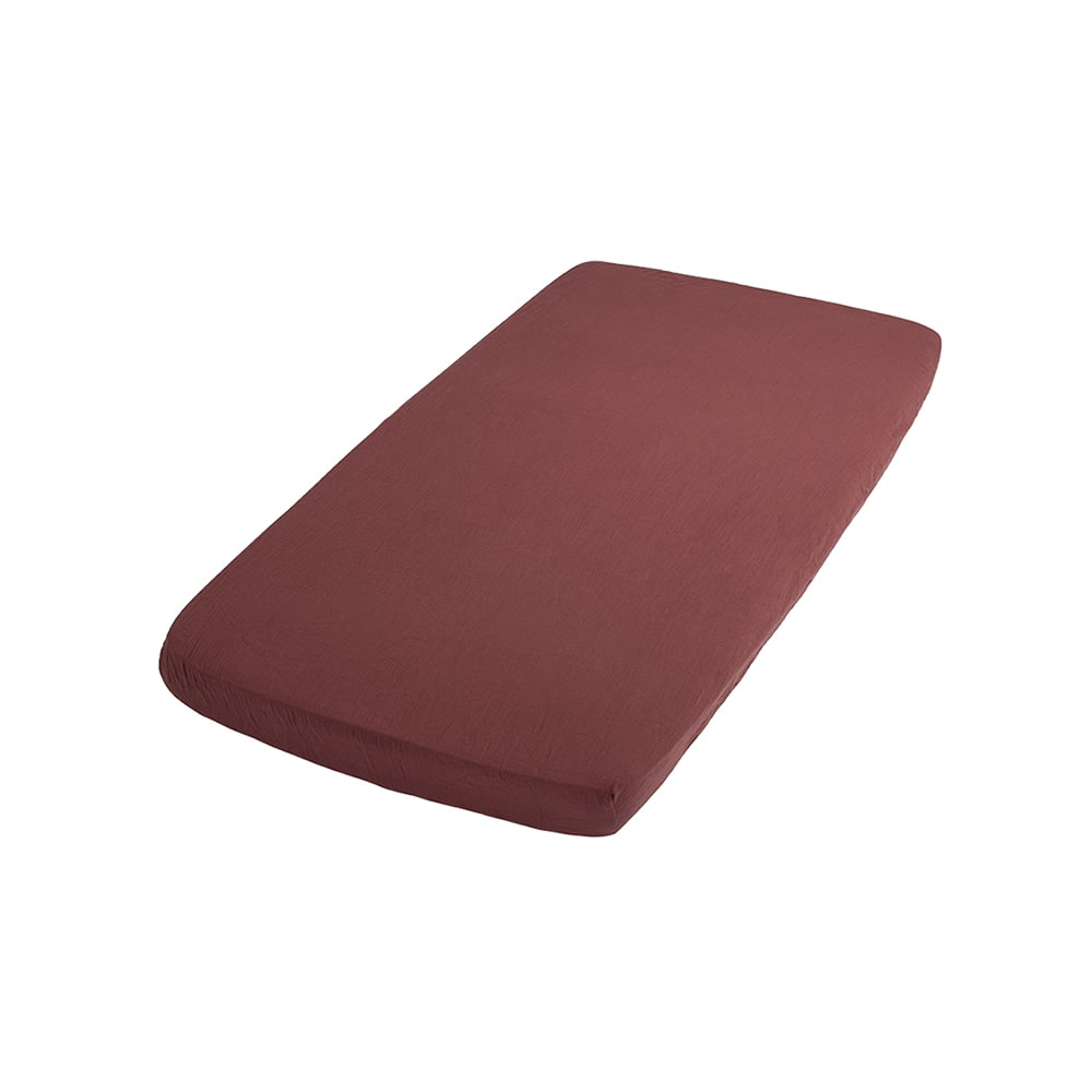 fitted sheet breeze stone red 40x80