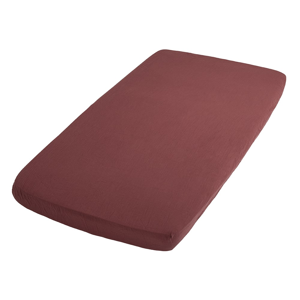 fitted sheet breeze stone red 60x120