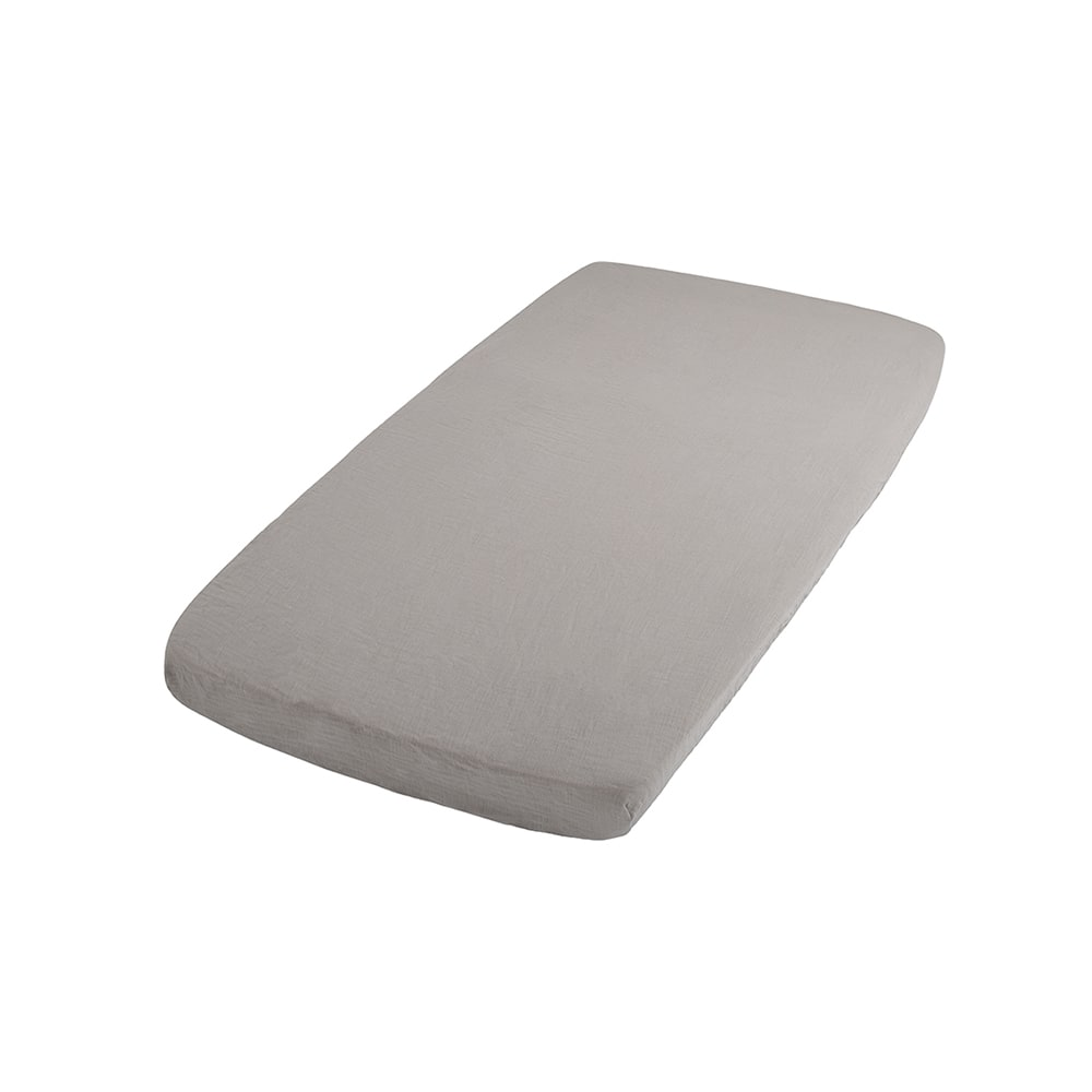 fitted sheet breeze urban taupe 40x80