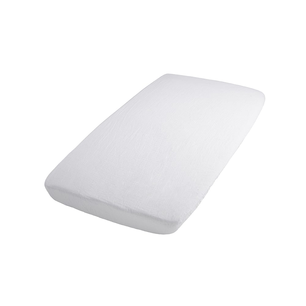 fitted sheet breeze white 40x80