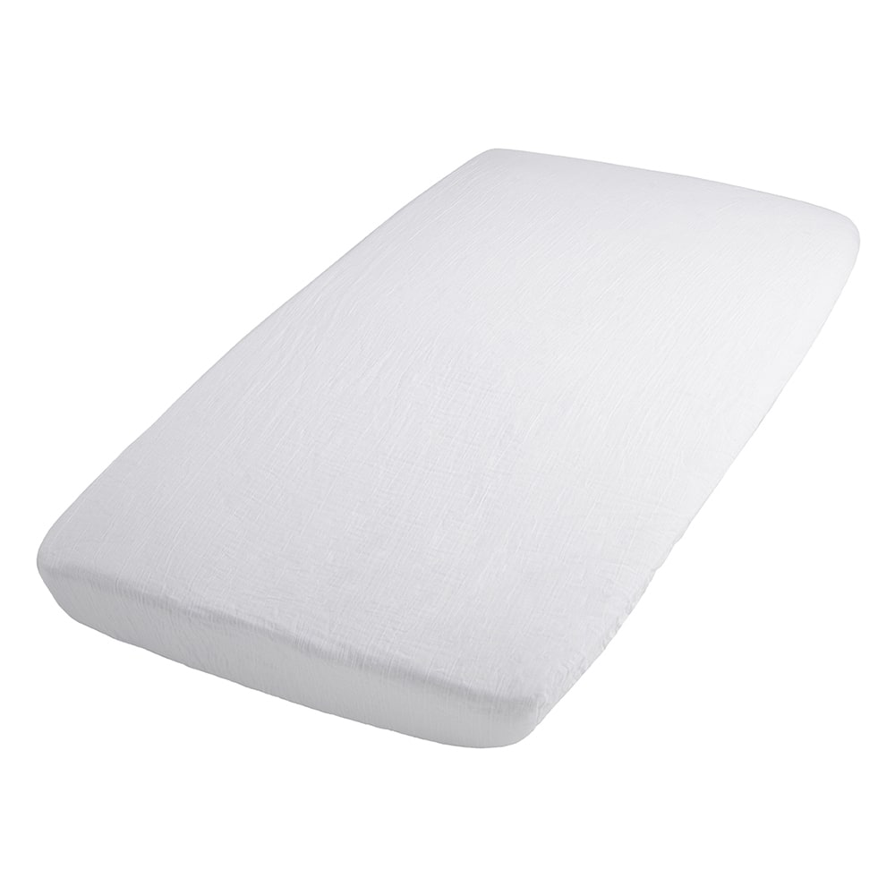 fitted sheet breeze white 60x120