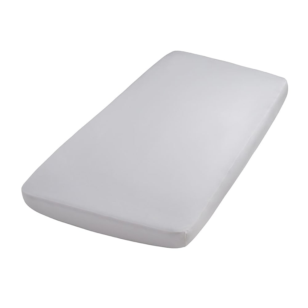 fitted sheet silvergrey 60x120