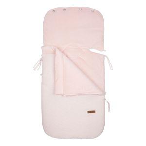 Footmuff car seat 0+ Classic pink