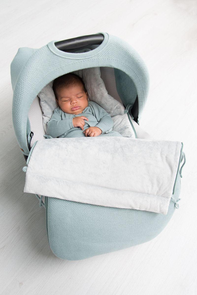 footmuff car seat 0 classic silvergrey