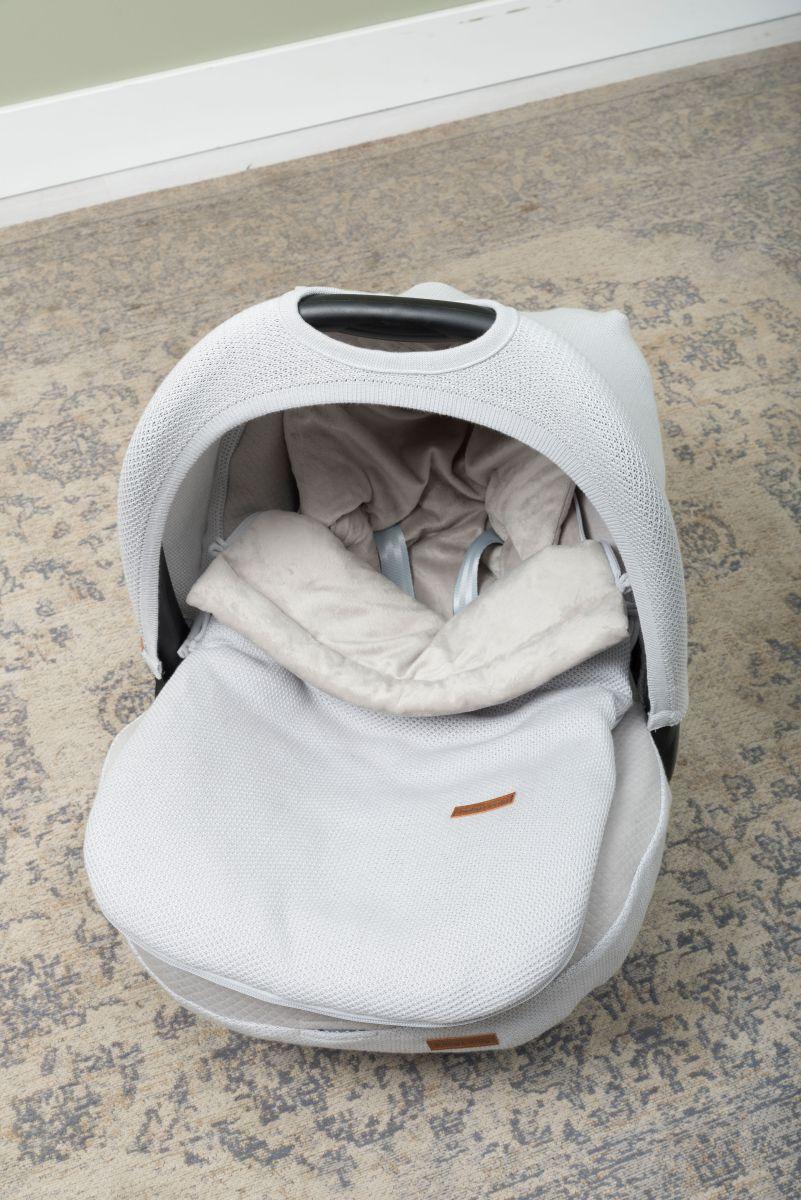 footmuff car seat 0 classic woolwhite