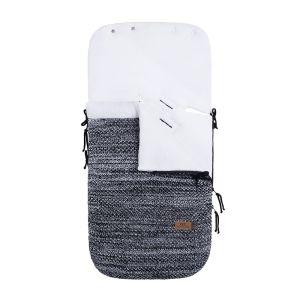 Footmuff car seat 0+ River black/white melee