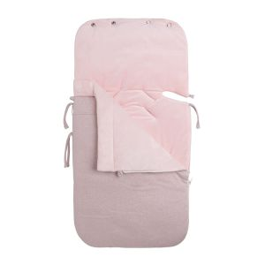 Footmuff Maxi-Cosi 0+ Sparkle silver-pink melee