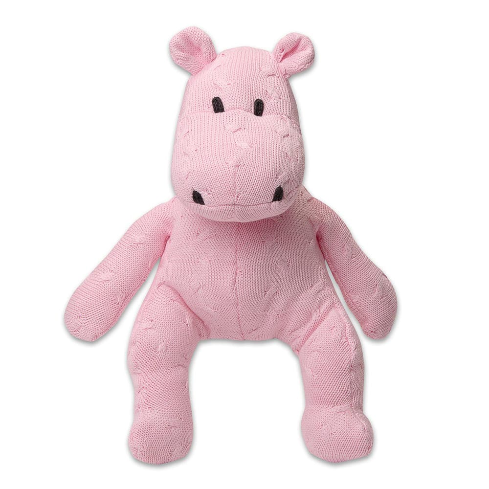 hippo cable baby pink