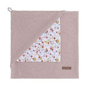 Hooded baby blanket Bloom old pink