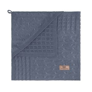 Hooded baby blanket Cable granit