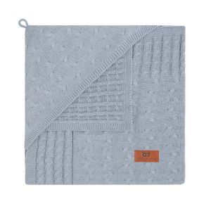 Hooded baby blanket Cable grey