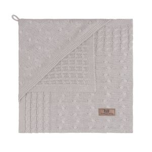 Hooded baby blanket Cable loam