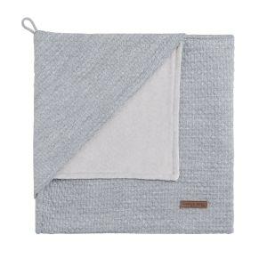 Hooded baby blanket chenille Cloud grey