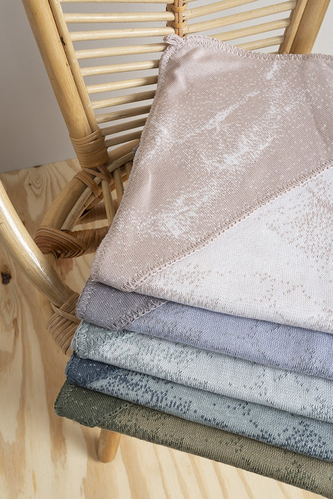 hooded baby blanket marble cool greylilac