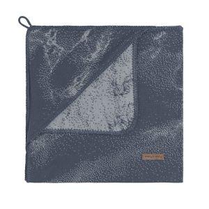 Hooded baby blanket Marble granit/grey