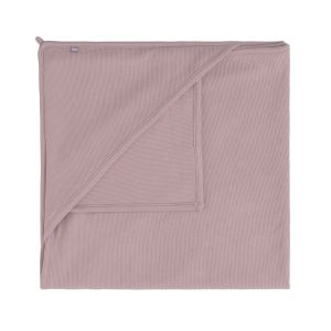 Hooded baby blanket Pure old pink - 75x75