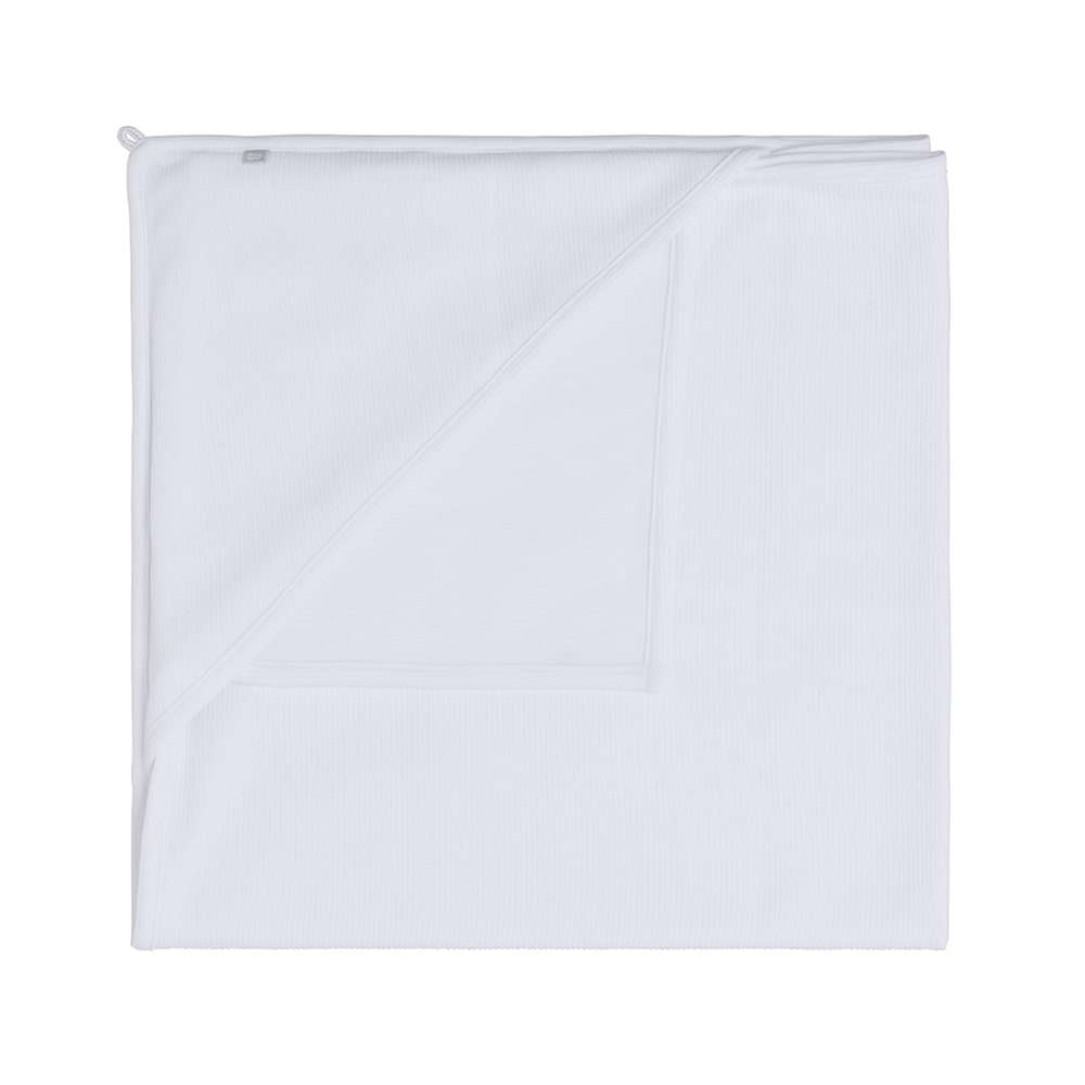 hooded baby blanket pure white 75x75