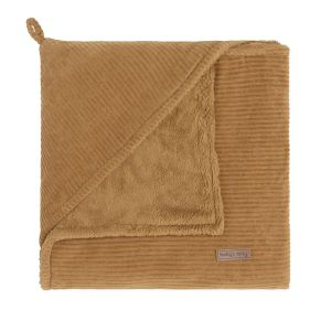 Hooded baby blanket Sense caramel