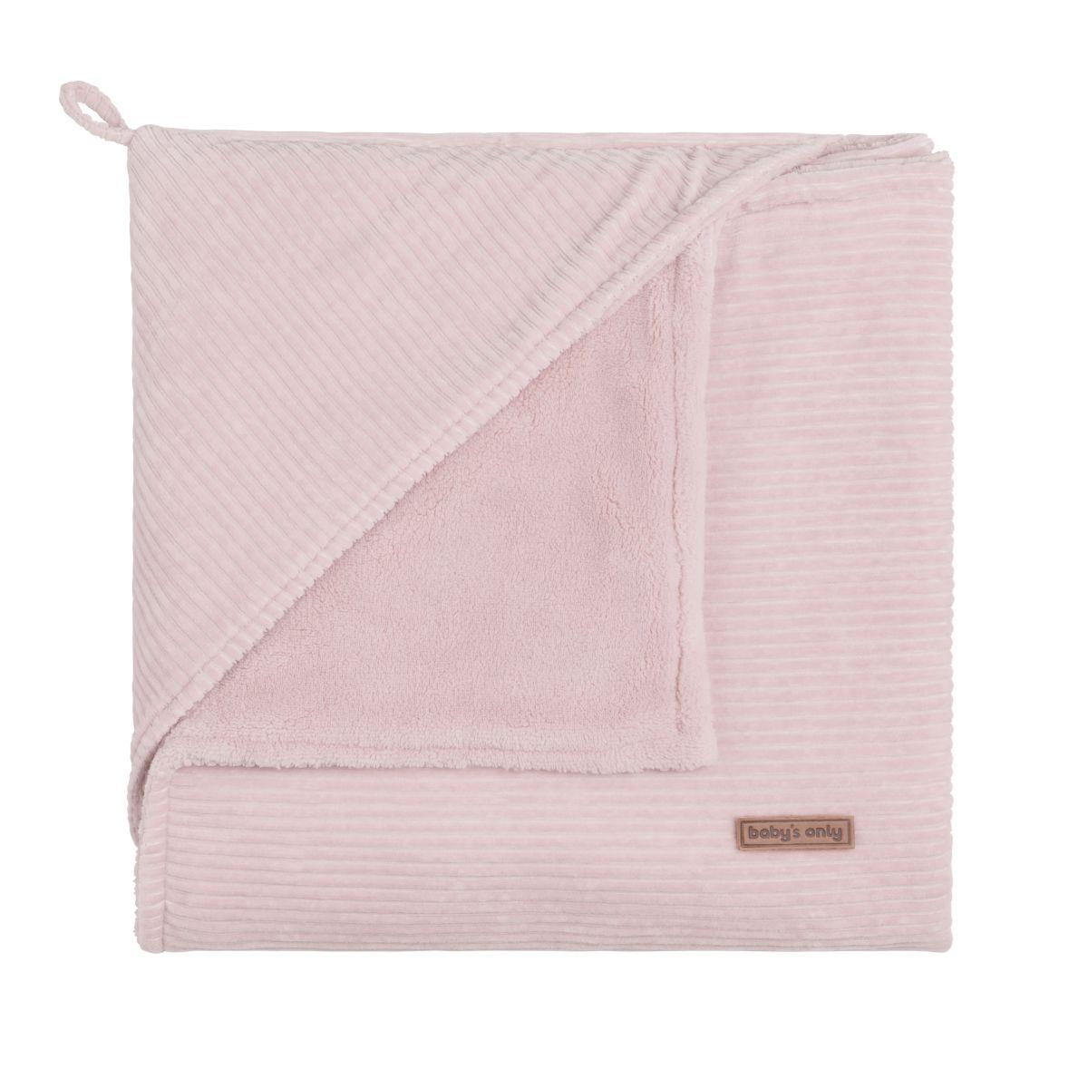 hooded baby blanket sense old pink