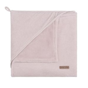 Hooded baby blanket Sense old pink