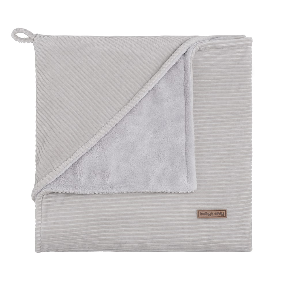 hooded baby blanket sense pebble grey