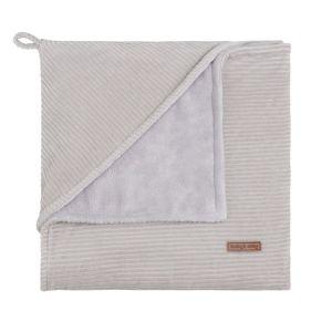 Hooded baby blanket Sense pebble grey