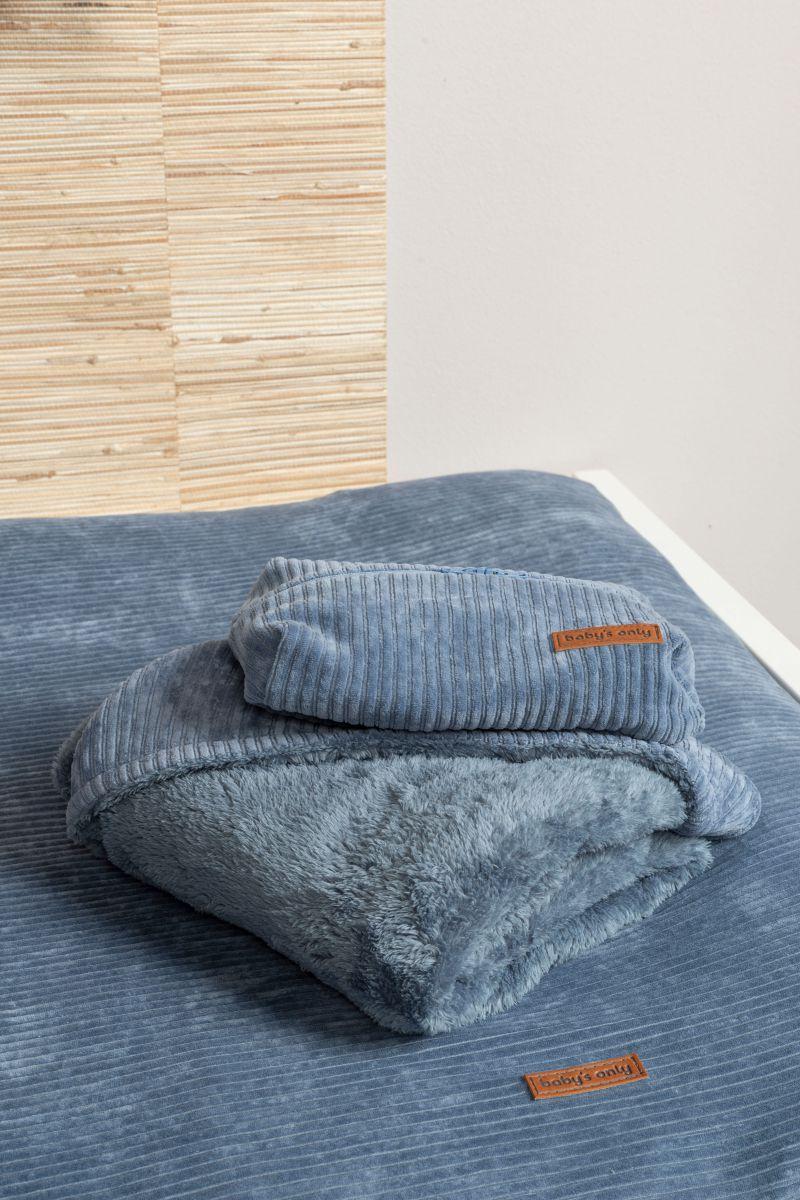 hooded baby blanket sense vintage blue