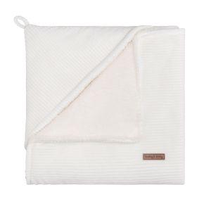 Hooded baby blanket Sense white