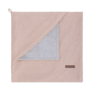 Hooded baby blanket soft Classic blush