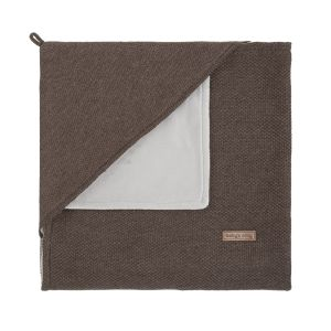 Hooded baby blanket soft Classic cacao