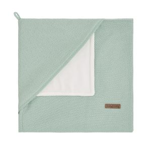 Hooded baby blanket soft Classic mint