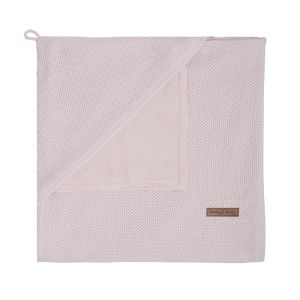 Hooded baby blanket soft Classic pink