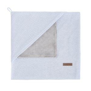 Hooded baby blanket soft Classic powder blue