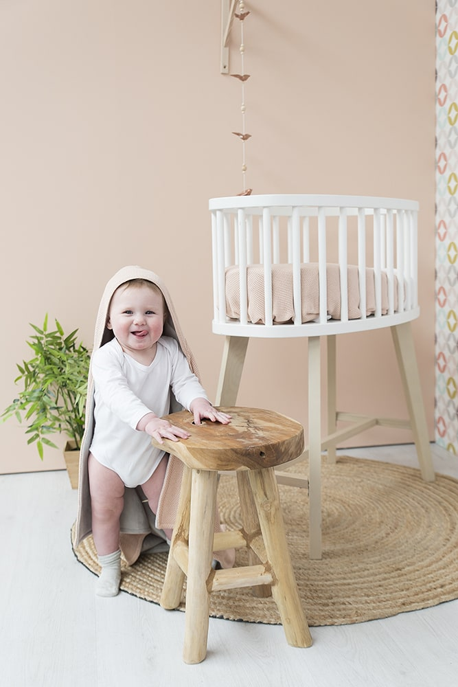 hooded baby blanket soft classic sand