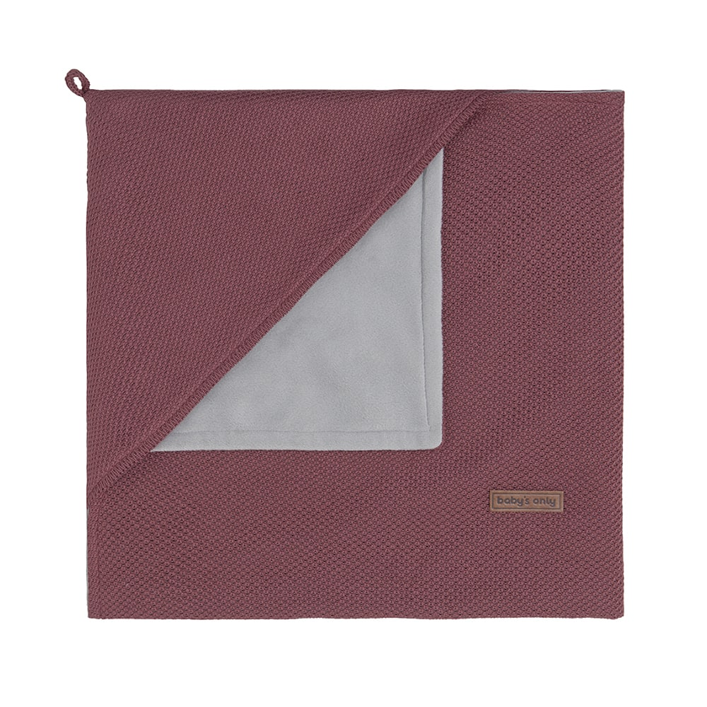 hooded baby blanket soft classic stone red