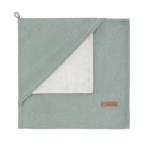 Hooded baby blanket soft Classic stonegreen