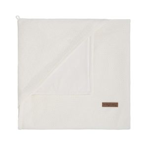 Hooded baby blanket soft Classic woolwhite