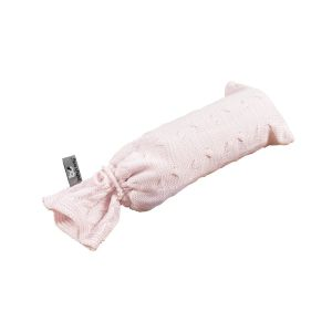 Hot water bottle cover Cable classic pink