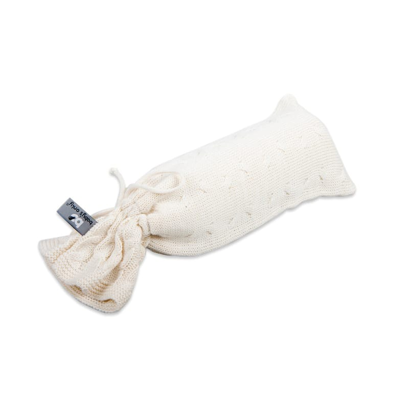 hot water bottle cover cable ecru