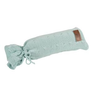Hot water bottle cover Cable mint