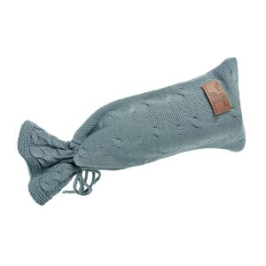 Hot water bottle cover Cable stonegreen