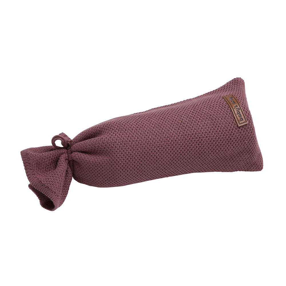 hot water bottle cover classic stone red