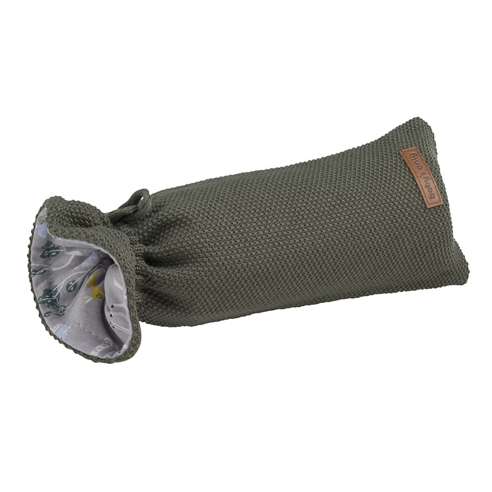 hot water bottle cover forest khaki