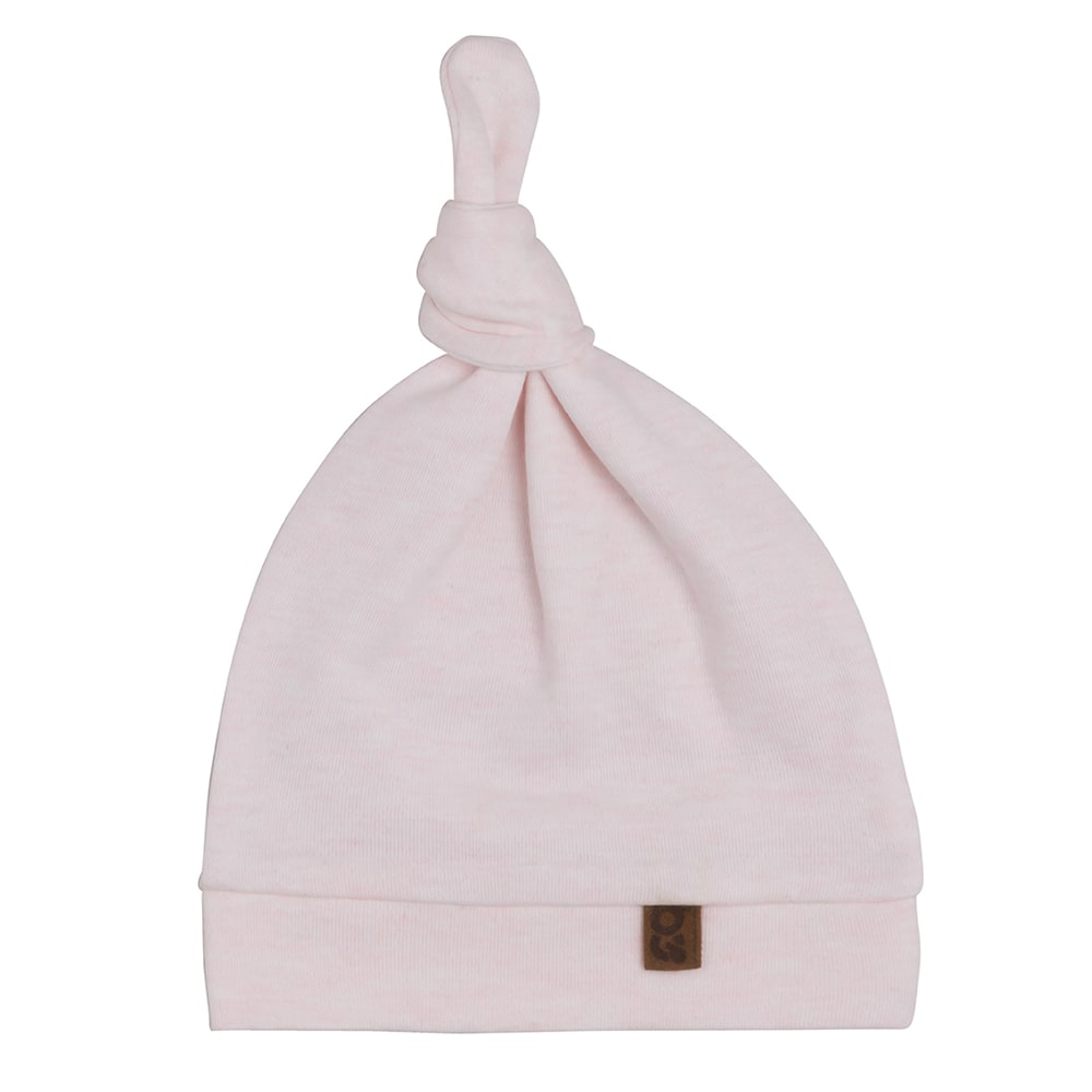 knotted hat melange classic pink 03 months