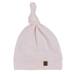 Knotted hat Melange classic pink - 0-3 months