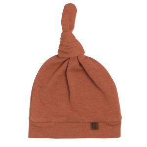 Knotted hat Melange honey - 0-3 months