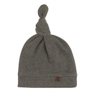 Knotted hat Melange khaki - 3-6 months
